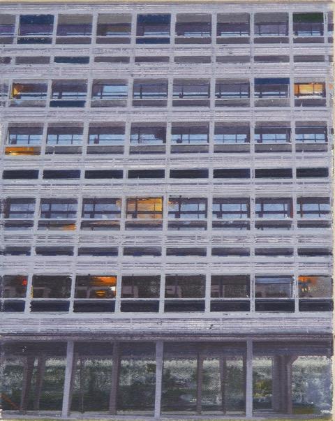 La Cité Radieuse of Le Corbusier ,  Study 3  20 x 25 oil on canvas  Private Collection