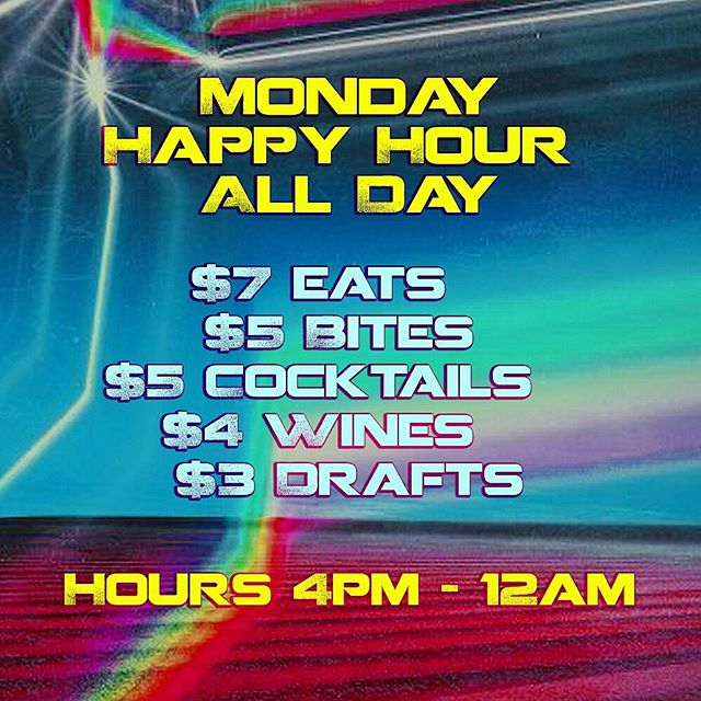 Delicious Bites and Tasty Drinks at #HappyHour prices ALL DAY!  #BeachesWeho 😋