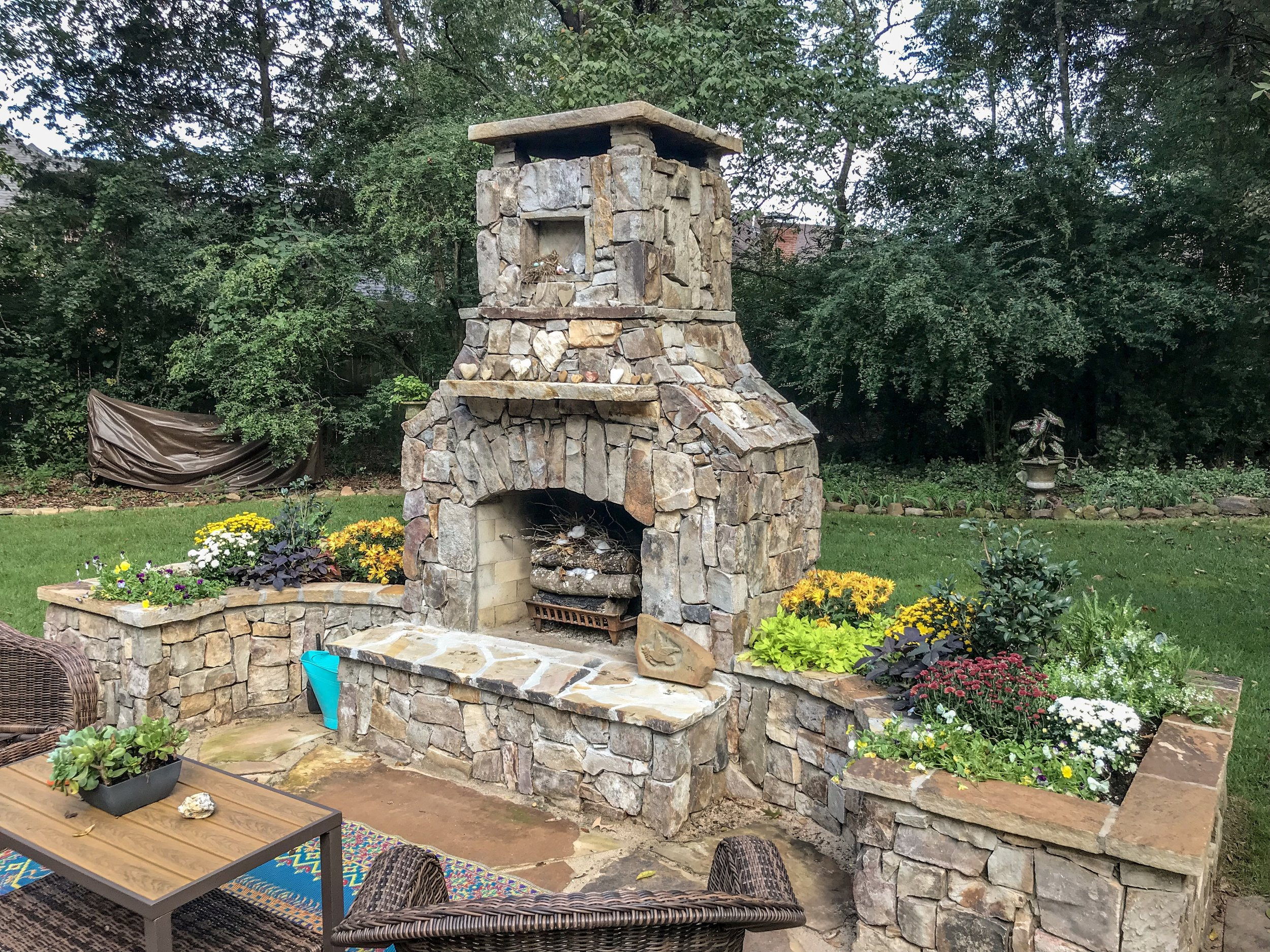 Outdoor Fireplace Installation - Bringing the enjoyment of the outdoors year round, we install fire pits as well as true masonry fireplaces that will provide warmth and a cozy feel to every outdoor space