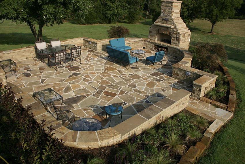 Hardscape Installation - Masonry work including stone and paver paths, patios and walkways from a huge selection of stone hand picked and sourced from Arkansas, Pennsylvania and Colorado.