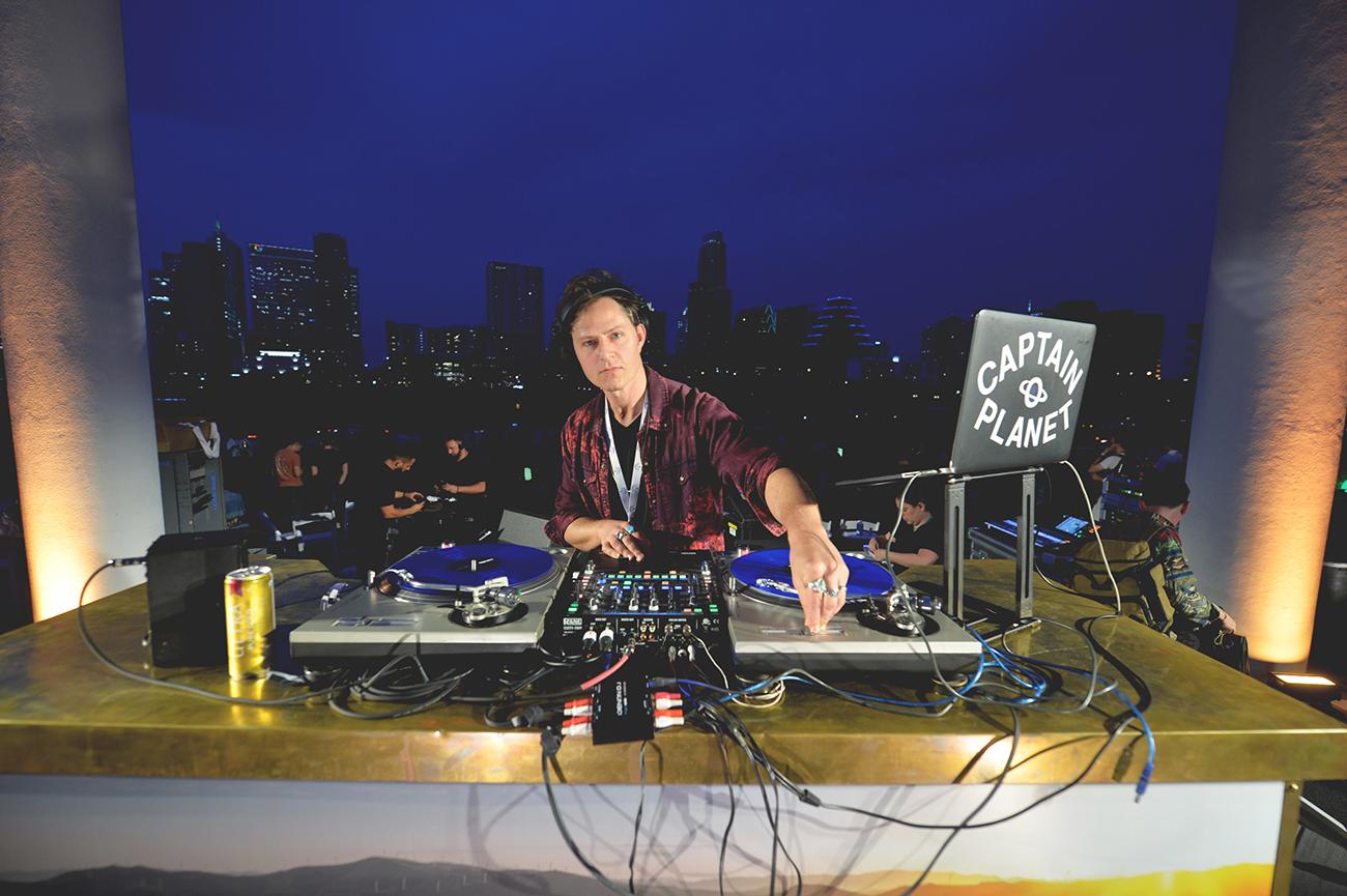 DJ Captain Planet SXSW Michelob Ultra Pure Golden Hour Austin