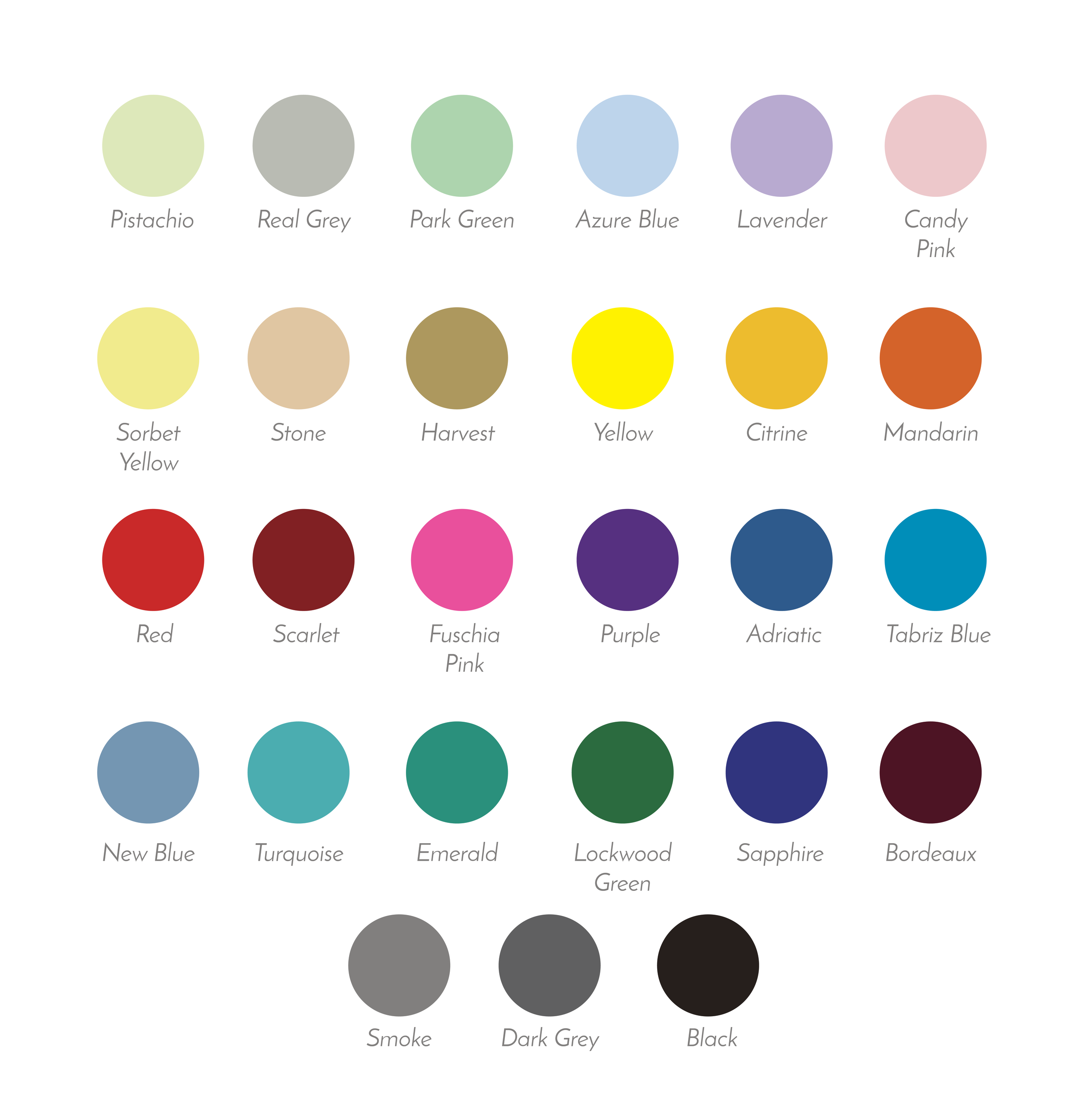 27 Color Options