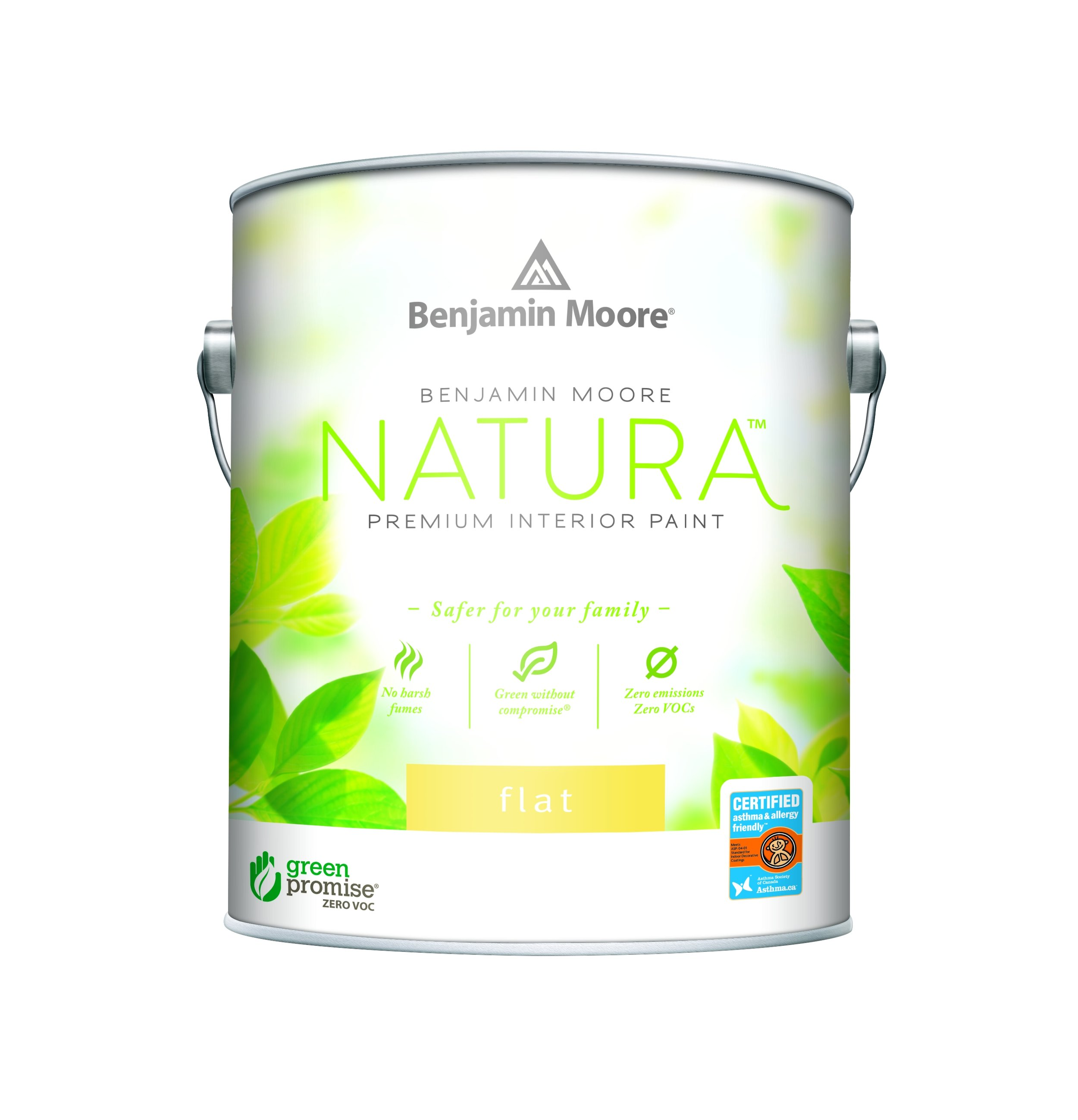Benjamin Moore Natura™ Waterborne Interior Paint - Natura Waterborne Interior Paint continues Benjamin Moore's commitment to providing the most environmentally friendly paint. Natura Paint emits lower total VOCs than other national zero-VOC products on the market, all without compromise to performance or colour selection. Natura is truly