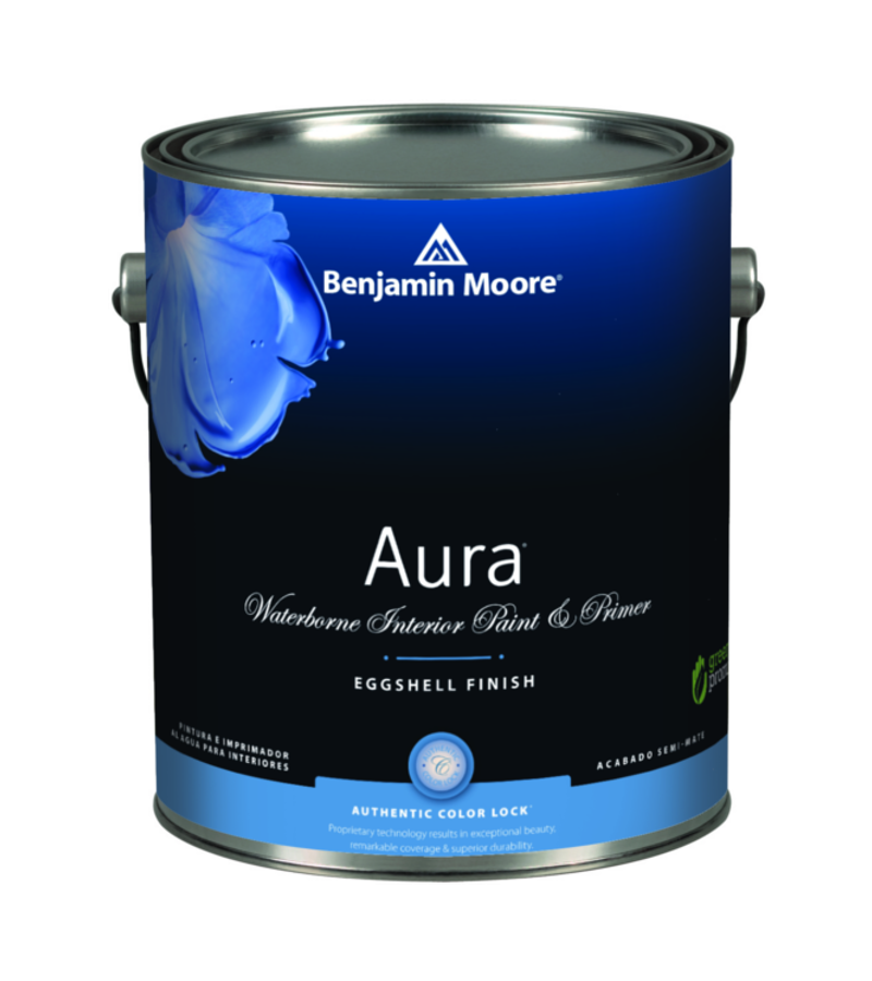 Benjamin Moore Aura® Interior Paint - Aura delivers remarkable durability and offers the most advanced way to bring color to life. Using our exclusive Color Lock® technology, Aura paint brings you discernibly richer, truer color. Visibly thicker, Aura paint covers like no other—even in the deepest shades.