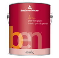 Ben® Waterborne Interior Paint - Ben offers the Benjamin Moore standard of performance while meeting the specific needs for an entry level premium product. Ben offers a low VOC product without sacrificing the consumer's desire for quality.
