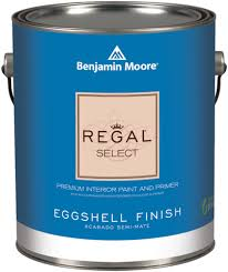 Benjamin Moore Regal® Select Waterborne Interior Paint - Regal Select offers the premium performance and smooth application you've come to expect from our classic paint, with the added benefits of cutting-edge new technologies. Thanks to our proprietary waterborne resins and zero VOC colourants, Regal Select is both a paint and primer in one advanced formula.