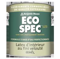 Peinture Eco Spec WB - Velouté - Eco Spec WB est un revêtement à base d'eau utilisant le système de colorants sans COV exclusifs Gennex de Benjamin Moore.
