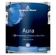 Peinture d'intérieur à base d'eau AuraMD - Aura d'intérieur mettant en œuvre notre technologie Colorafixe exclusive offre une performance optimale pour des couleurs brillantes, riches et durables.