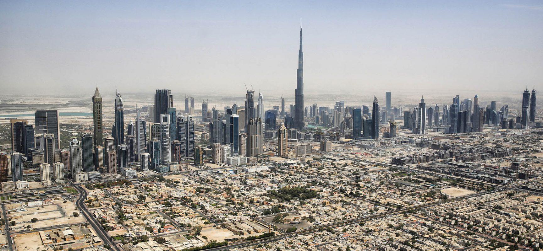 Photo:    Dubai Skyline by    Tim.Reckmann    – Own work,    CC BY-SA 3.0   ,    Link