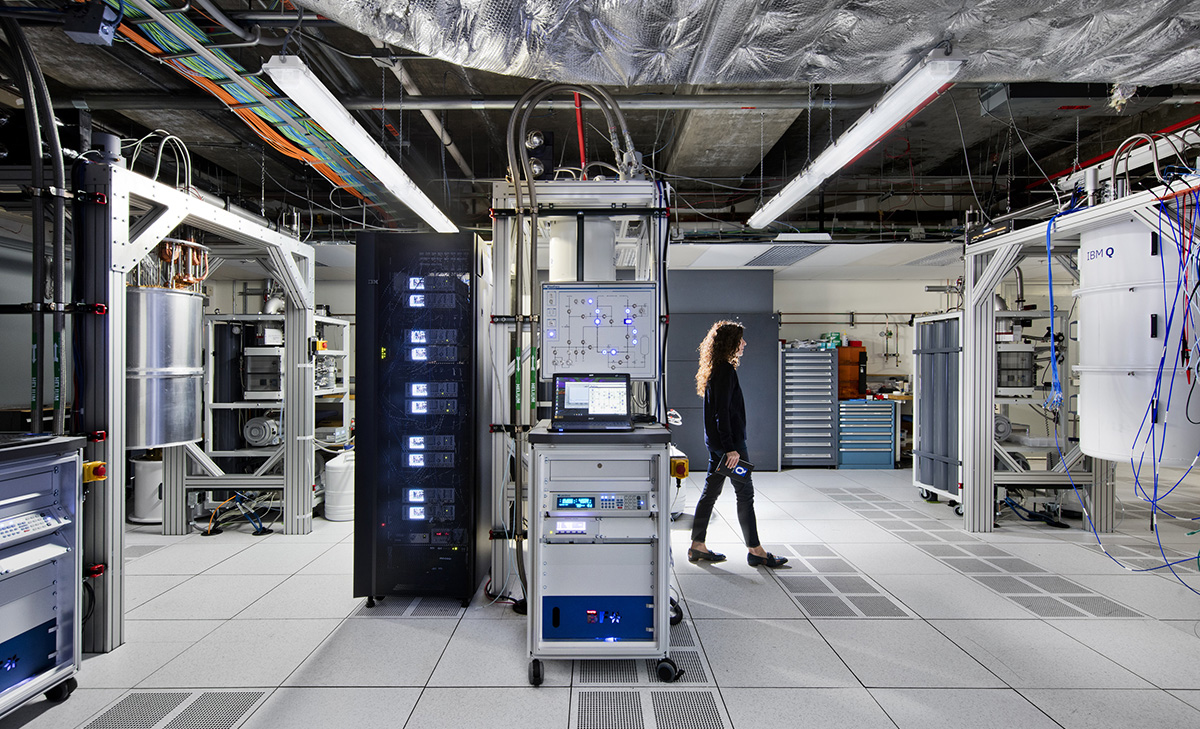 Inside the first IBM Q computation center, which announced cloud access to its 20 qubit processor in January 2019. (Credit: IBM/Connie Zhou)