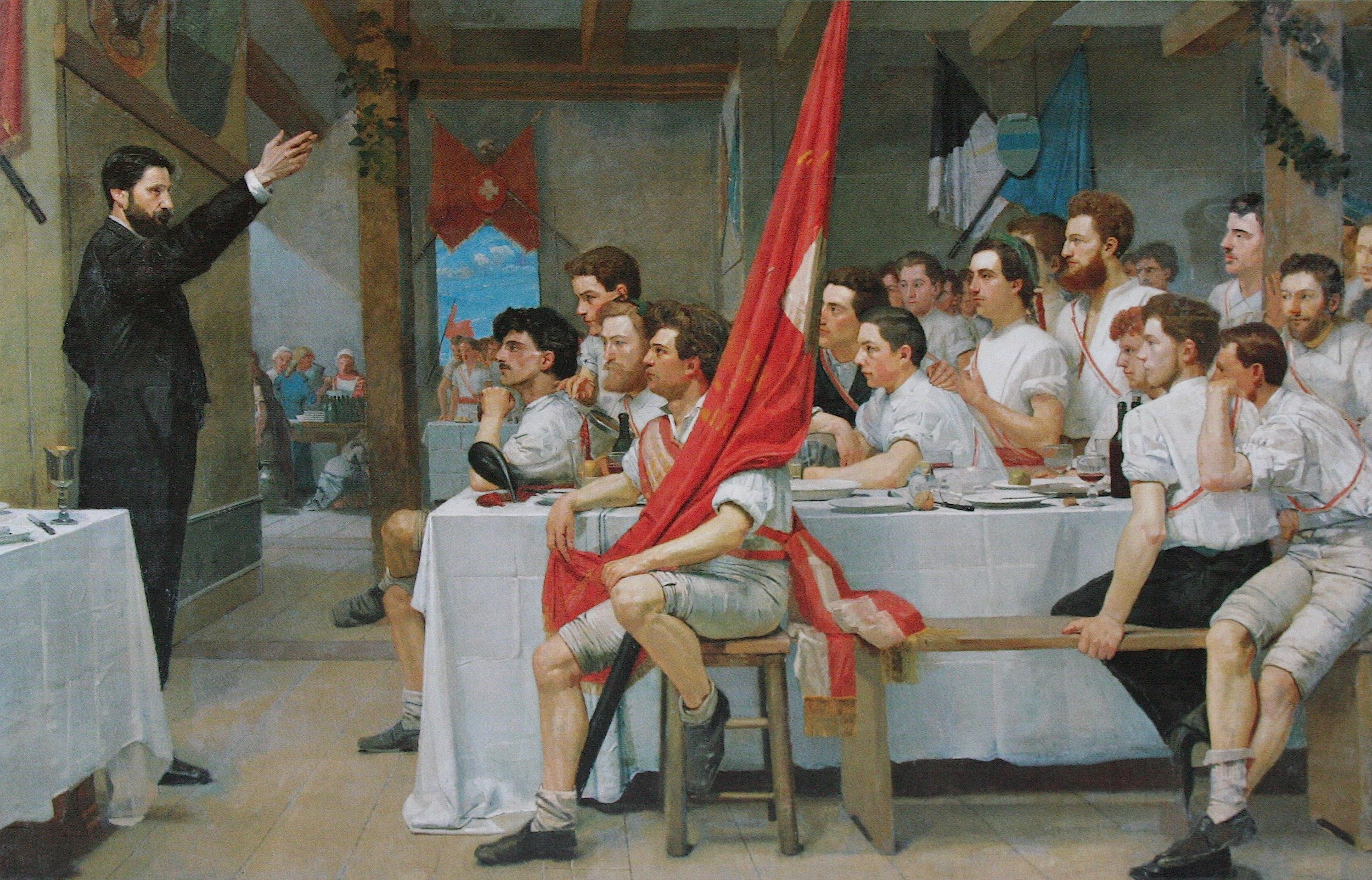 The Turner Banquet,    Ferdinand Hodler   , cc-0