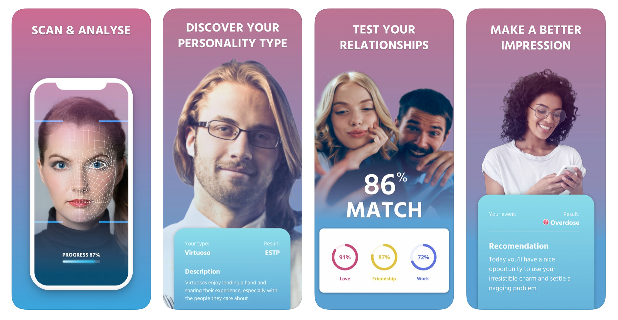 A screenshot from the Apple app store for an app designed to read your personality from a scan of your facial features, from June 2019.