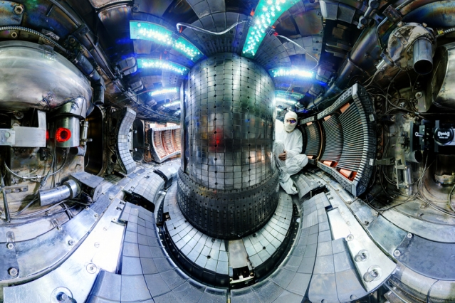 Photo: Inside the MIT-based SPARC reactor. Bob Mumgaard/Plasma Science and Fusion Center,    MIT.
