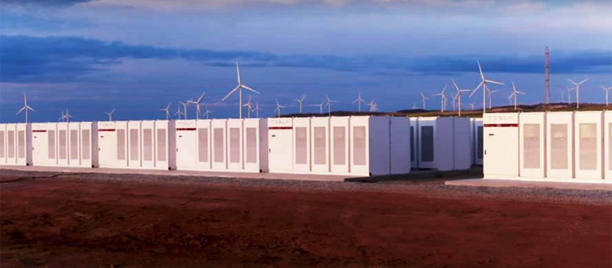 The Hornsdale Power Reserve in South Australia is the largest lithium-battery storage site on Earth in 2019, and was constructed in less than 100 days.