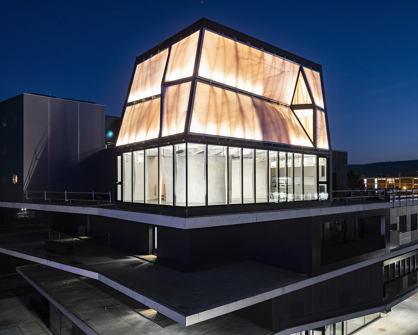 The DFAB House in Switzerland, the first inhabitable house built entirely with digital tools and robots. Photo by Roman Kelller, courtesy of ETH Zurich