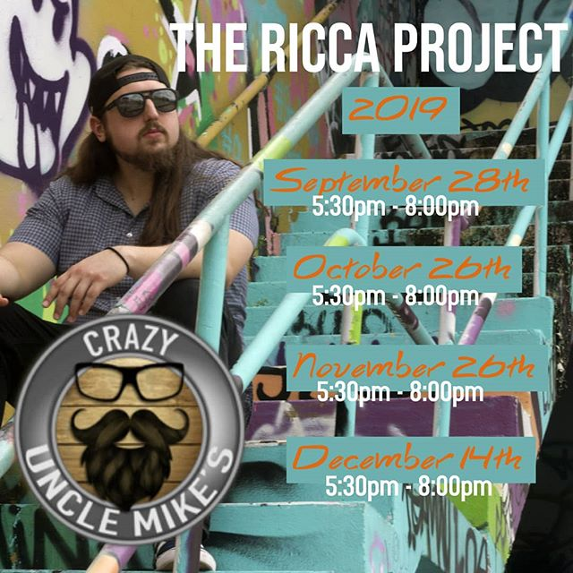 Happy to announce more dates at @crazyunclemikes through out 2019!!! Come check us out this saturday from 5:30 pm till 8 pm. #livemusic #bocaraton #fusion #funk #rock #soflo #soflomusic #goodvibes #jazz #brewery #localmusic #localbrew #originalmusic #thericcaproject