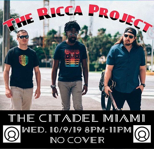 Come catch us at the @thecitadelmia in Miami this wednesday!!! #jazz #fusion #funk #soflo #originalmusic #miami #guitar #organtrio #soflomusic