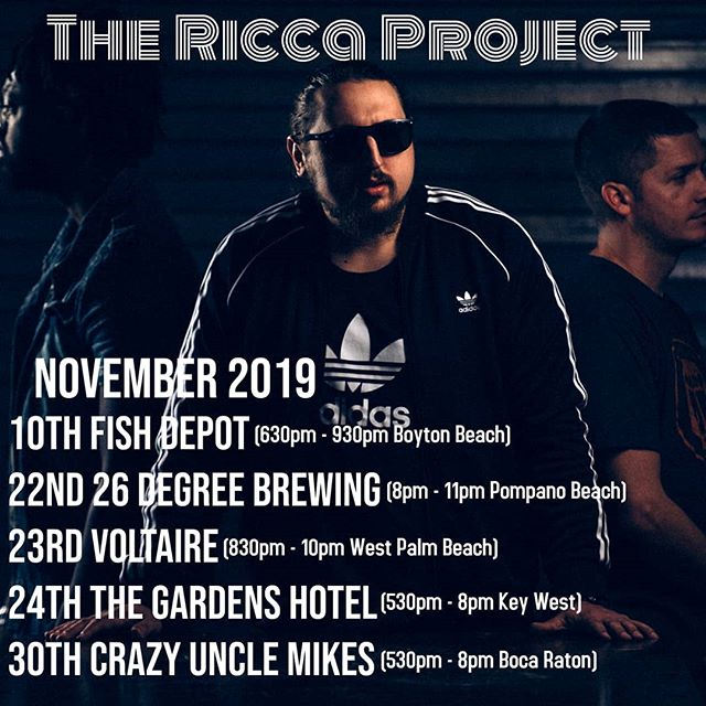 We got some awsome shows coming up this month!!! #livemusic #soflo #musician #organtrio @crazyunclemikes @thefishdepotbarandgrill @voltairewpb @26brewing