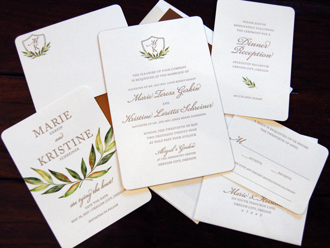 Houston Wedding Invitation