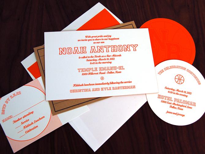 Custom Bat Mitzvah Invitations
