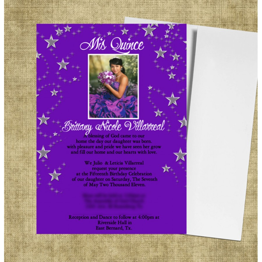Houston Quinceanera Invitation Purple.jpg