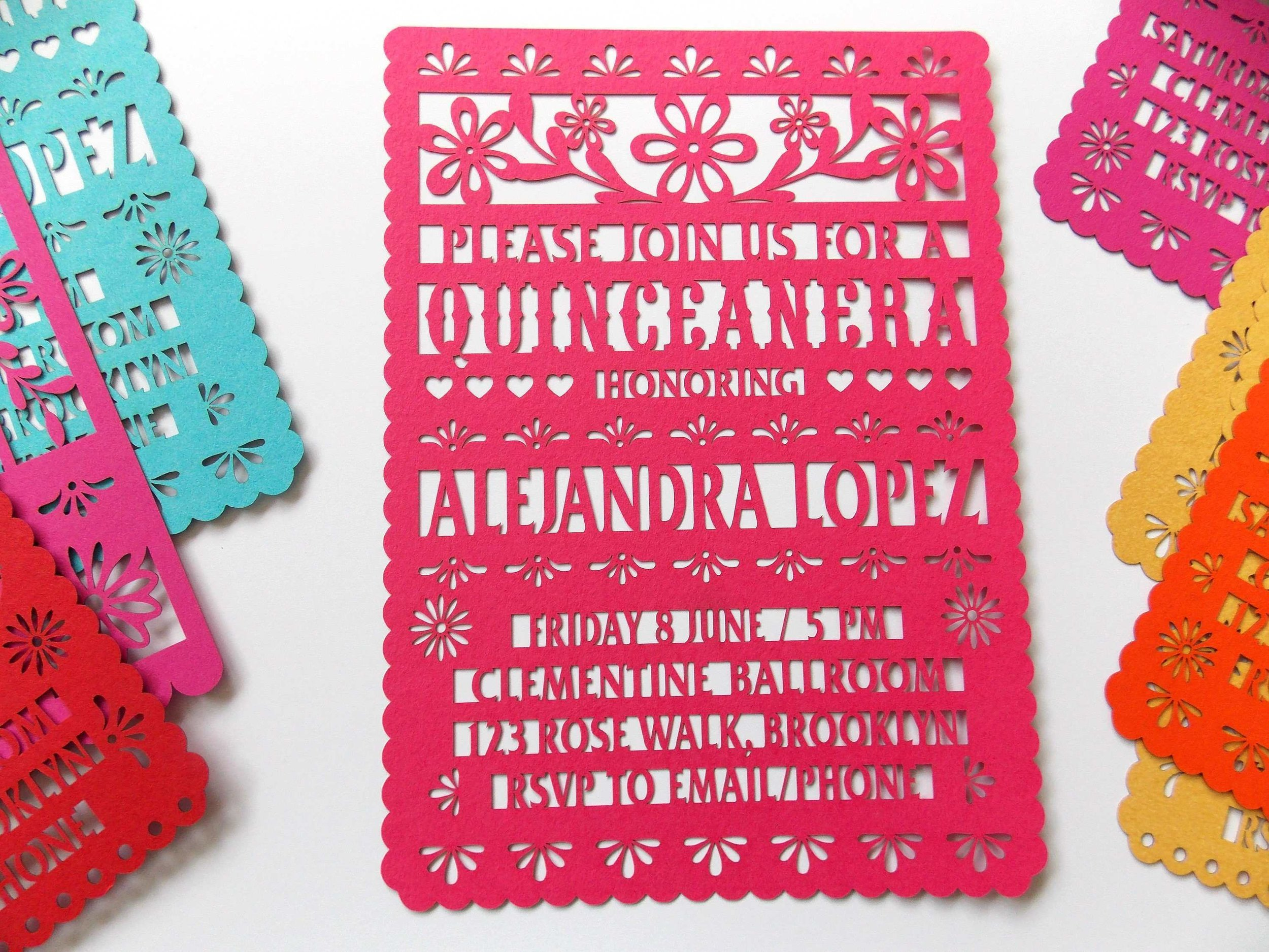 quince invitation wording Luxury Quinceanera Invitations Quinceanera Invites Papel picado