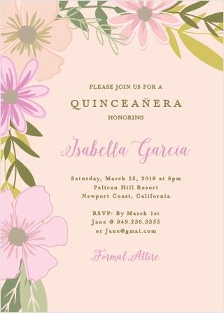 Houston Quince Invitation