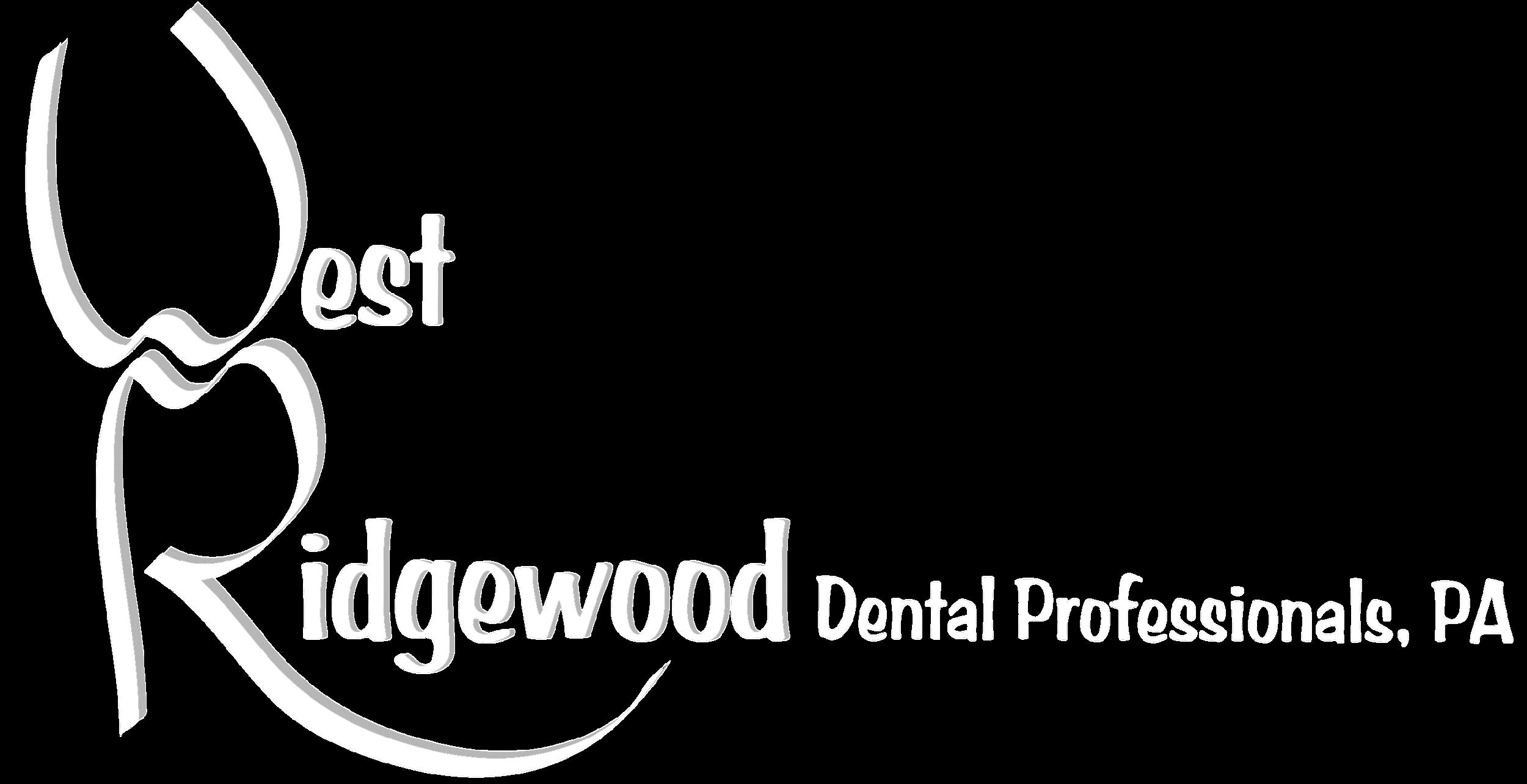 West Ridgewood Dental Professional, PA Logo Transparent White.png
