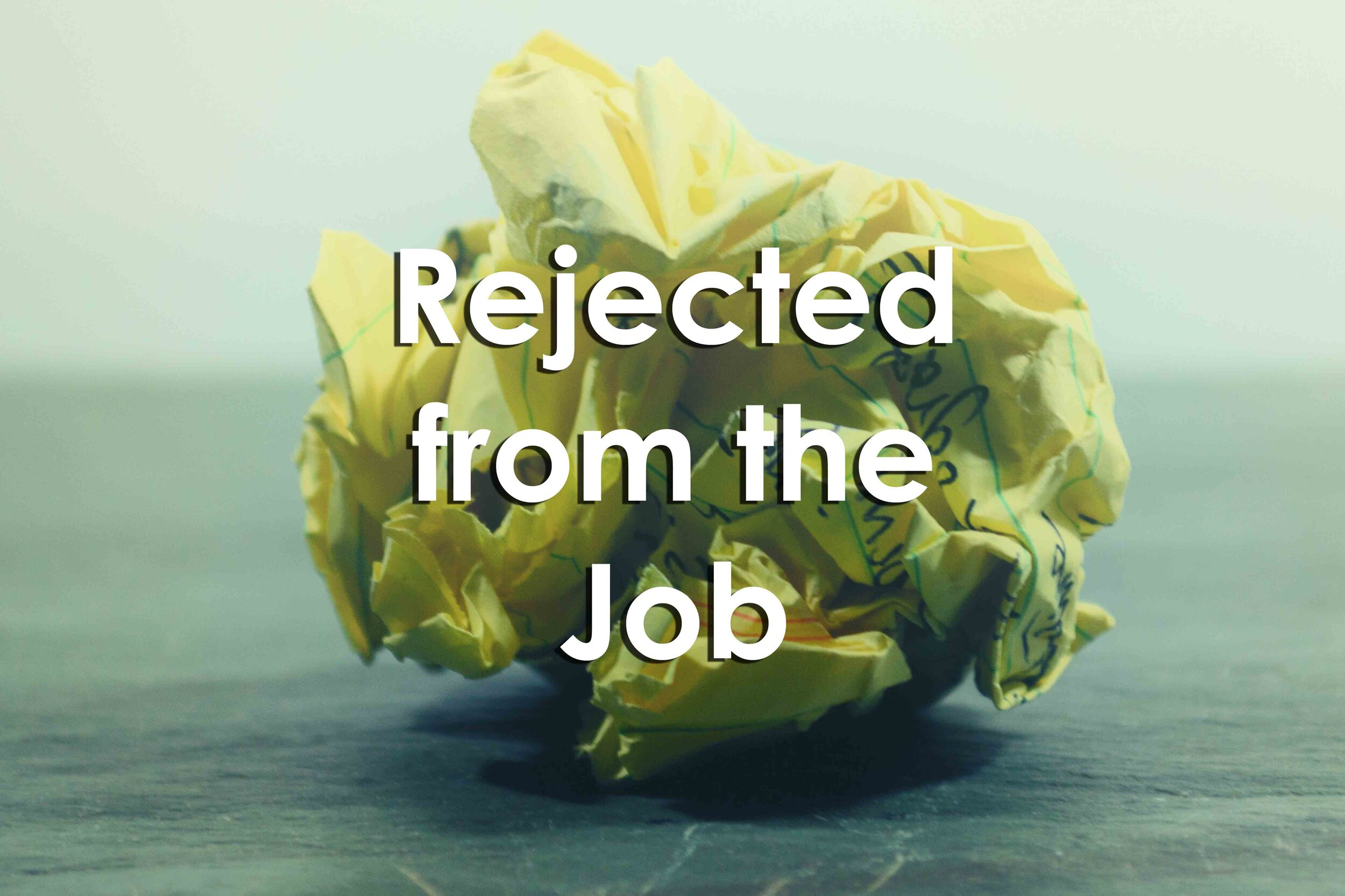 Rejected: A Student Affairs Job Search Response