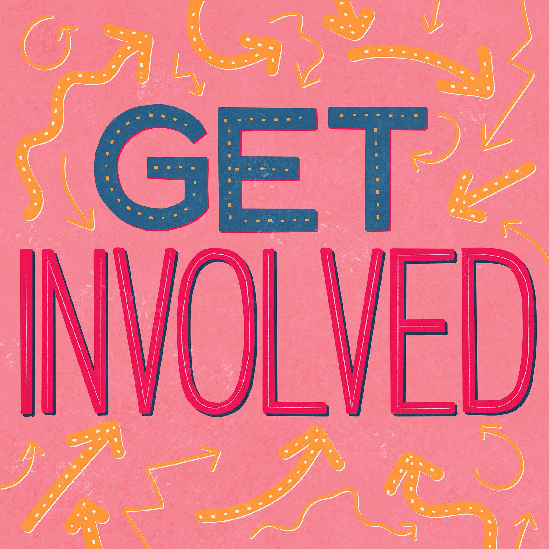 Get Involved Lettering Illustration