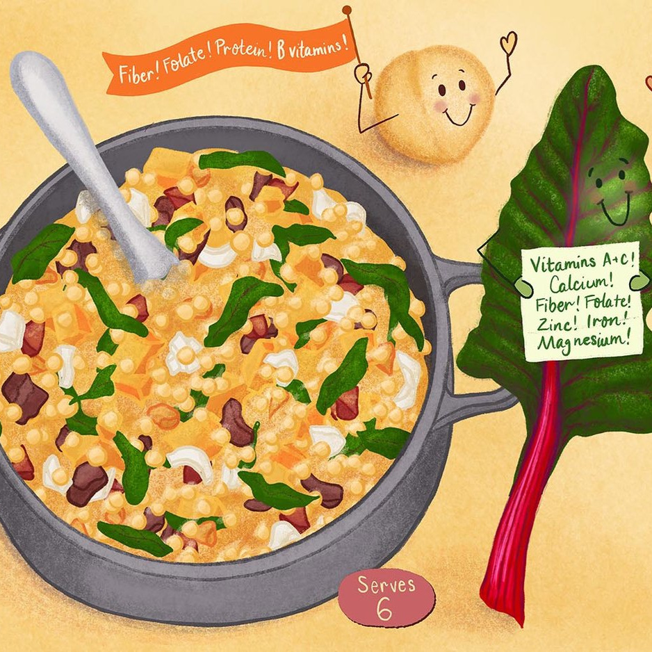 Braised Chickpeas Recipe Illustration