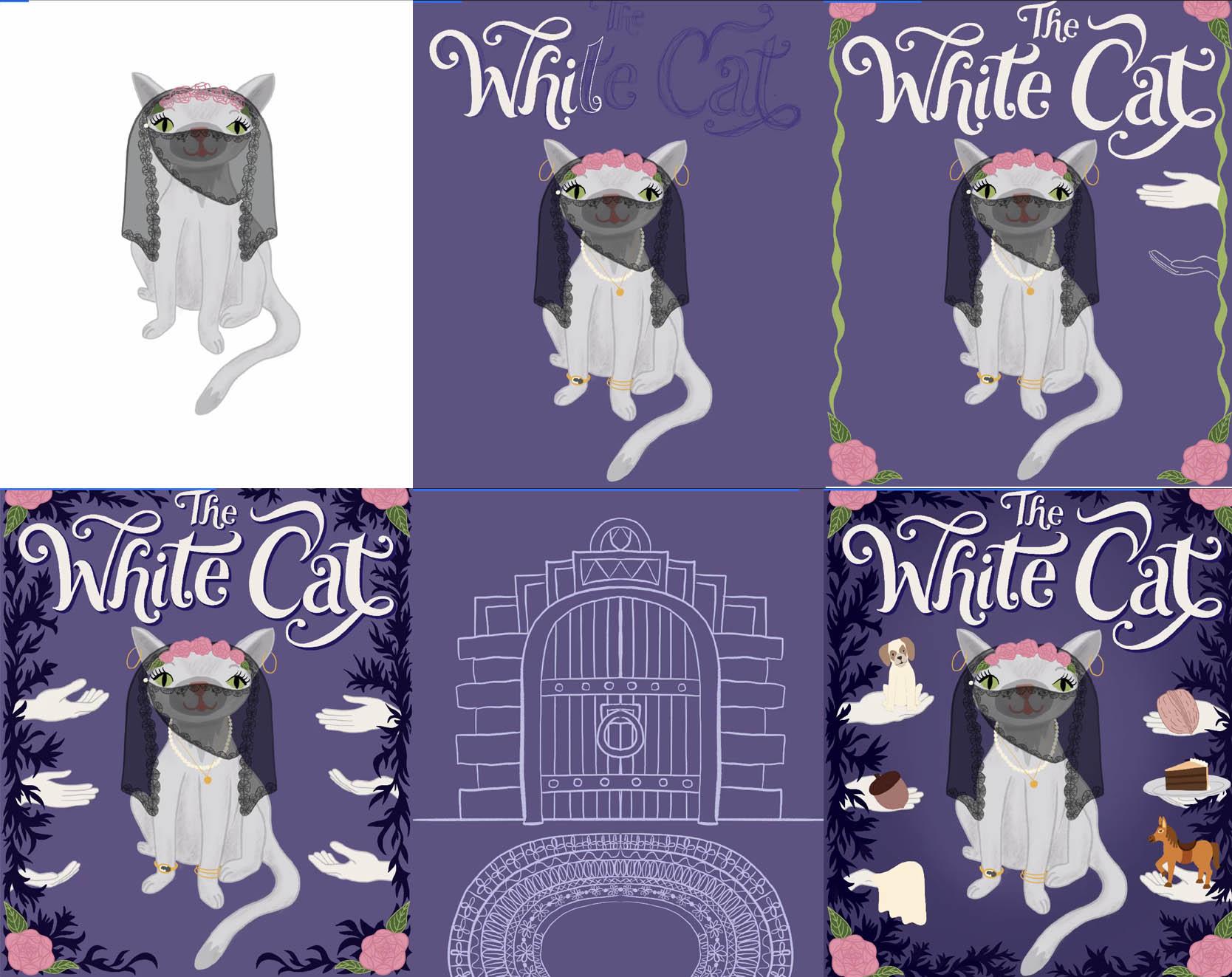 The White Cat Children's Book Cover in progress…