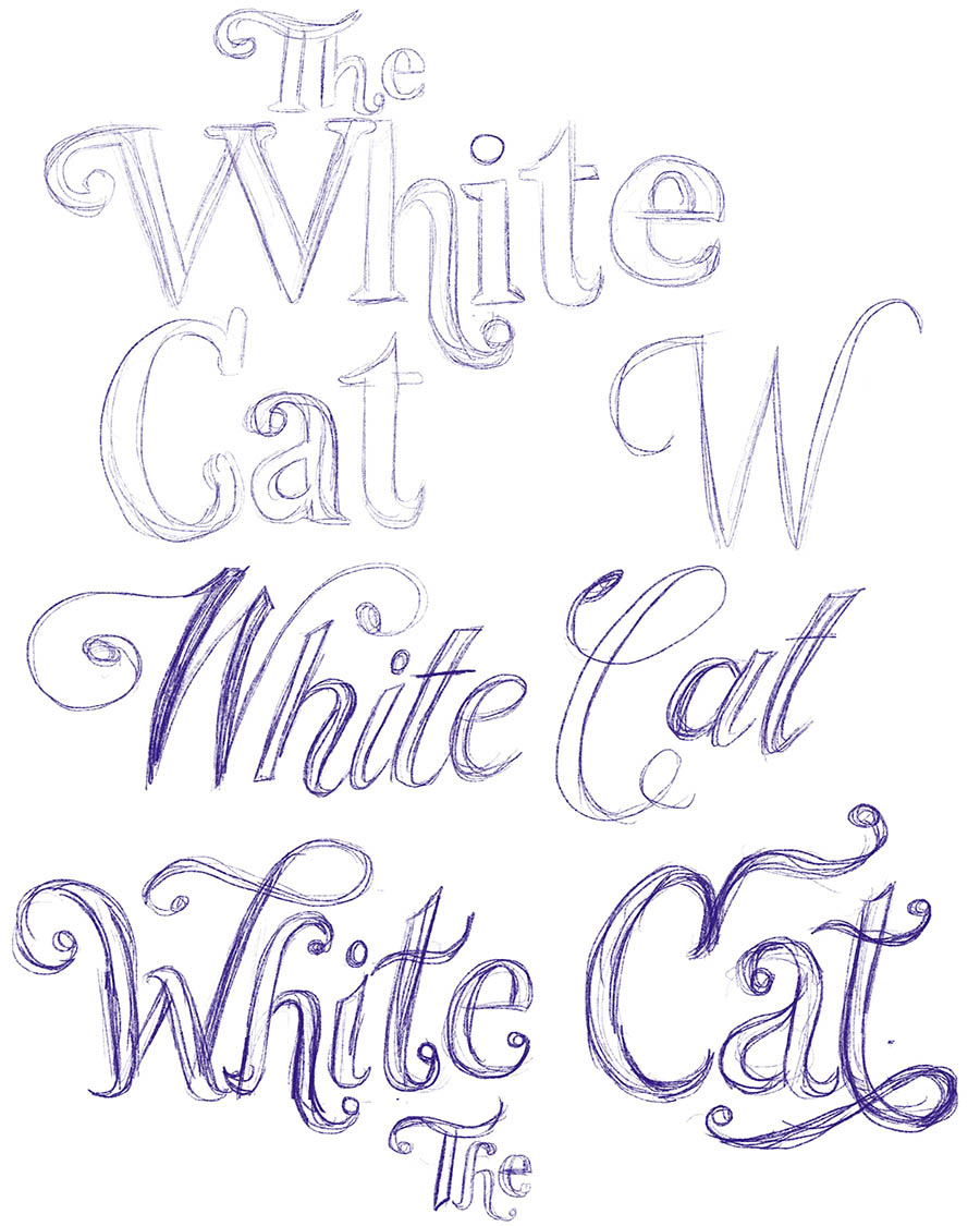 Initial lettering explorations