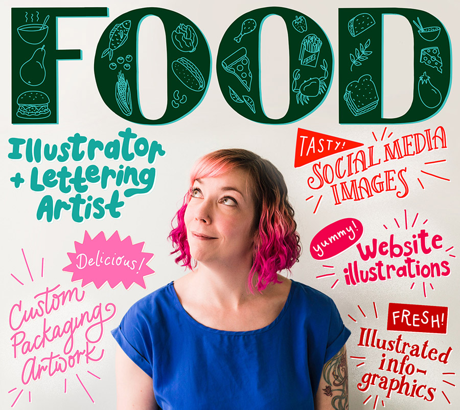Send me your food-based lettering and illustration projects!