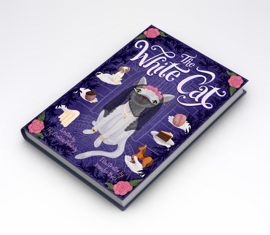 The White Cat Children's Book Cover.