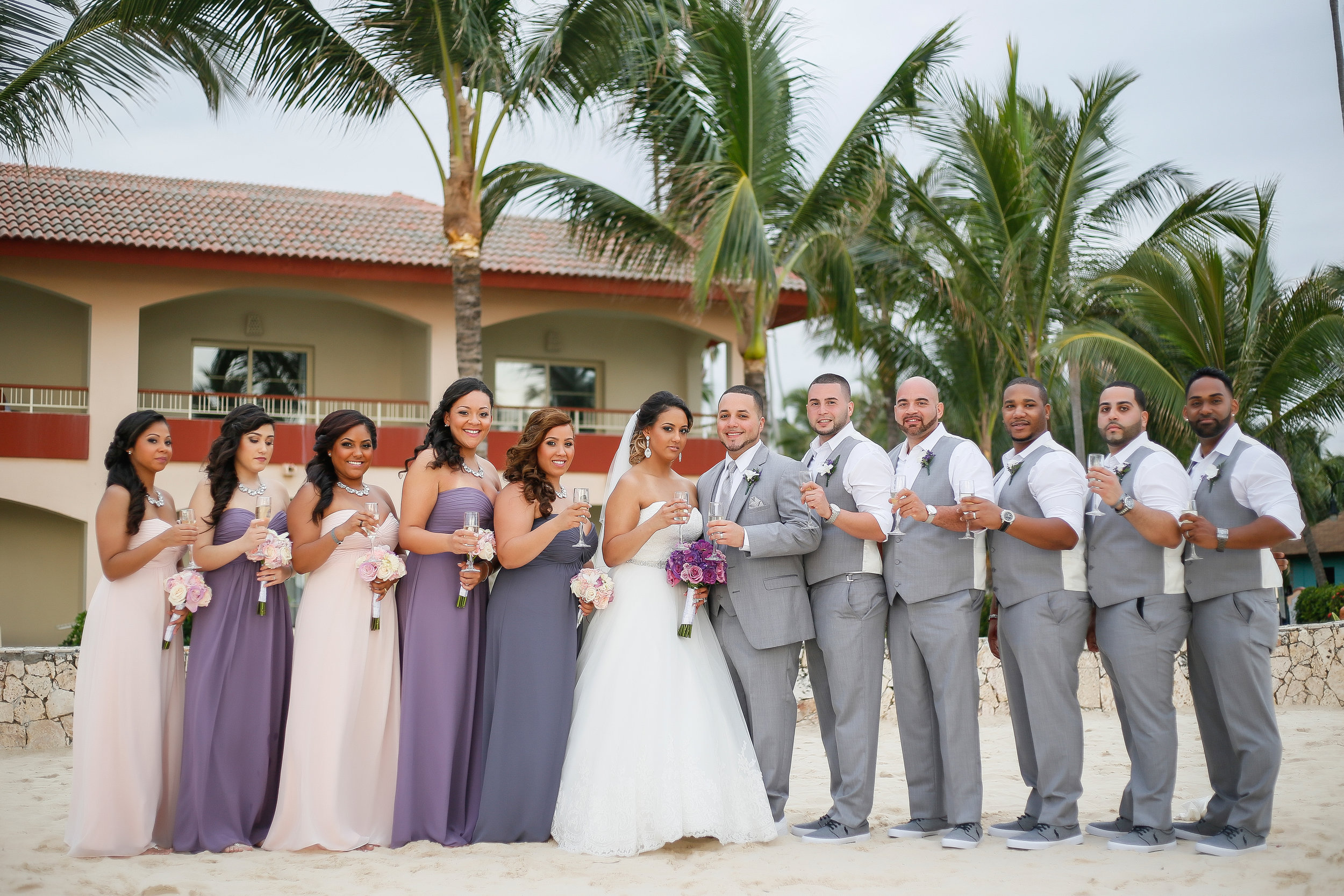 destination wedding grey slim fit tuxedos