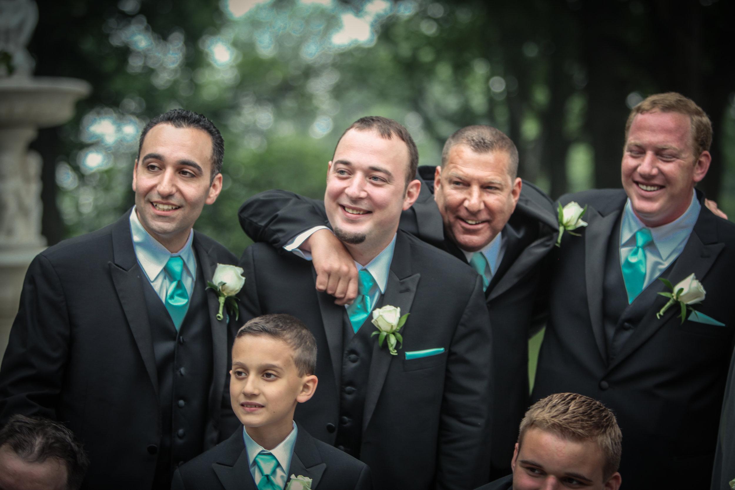 Wedding party black slim fit tuxedo