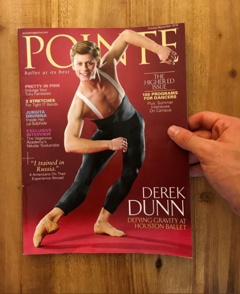 September 14th, 2016 We are so proud of Rock Alumnus, Houston Ballet demi-soloist, Derek Dunn. CONGRATULATIONS on your  Pointe  cover!!! photo by  Derek Dunn