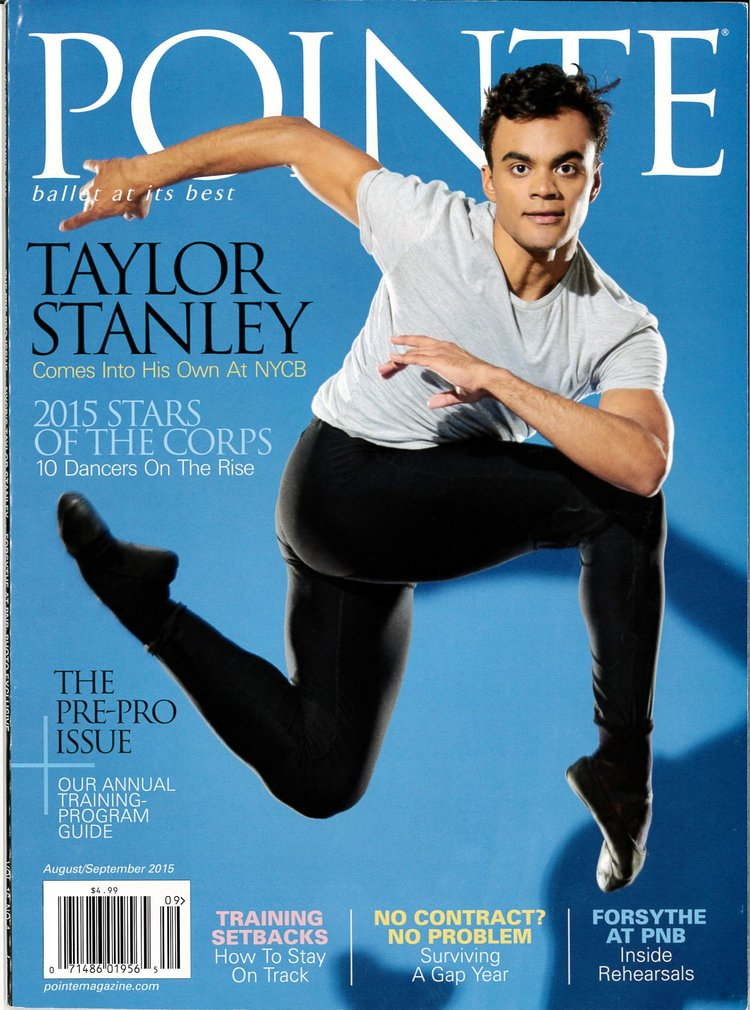 July 28th, 2015 Pointe Magazine Congratulations to Rock Alum and  New York City Ballet   Soloist, Taylor Stanley for his cover story in the latest issue of  Pointe Magazine. The Rock School is SO proud of Taylor and cannot wait  to see what the future has in store!  Also see him in  Ballet 422  on  Netflix  too.  The Rock School West  was where Taylor began his 10+ years of Rock training  #rockalum .