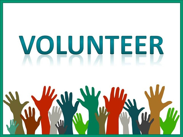Hands raised to volunteer.