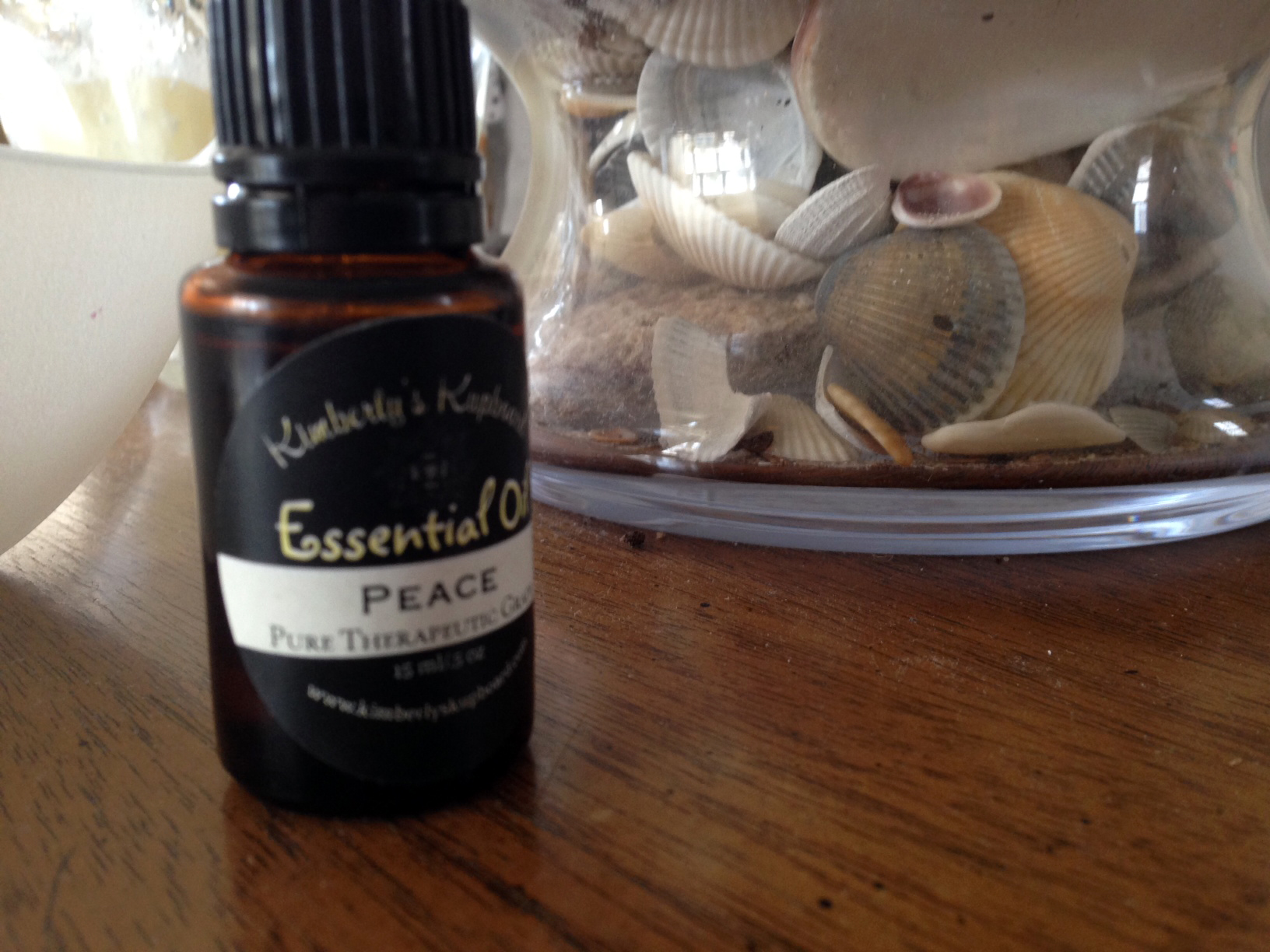 Shells and and Essential Oil called Peace.