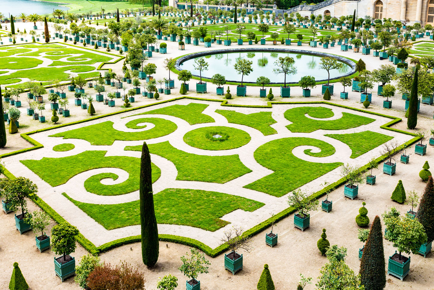 Orangery at the Palace Versailles, near Paris, France. Takashi images/Shutterstock.