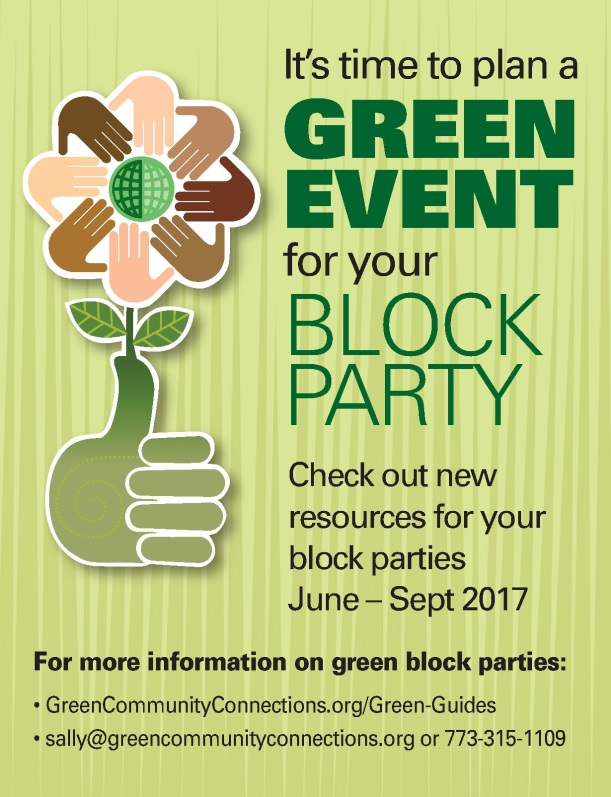 Poster for Green Block Parties
