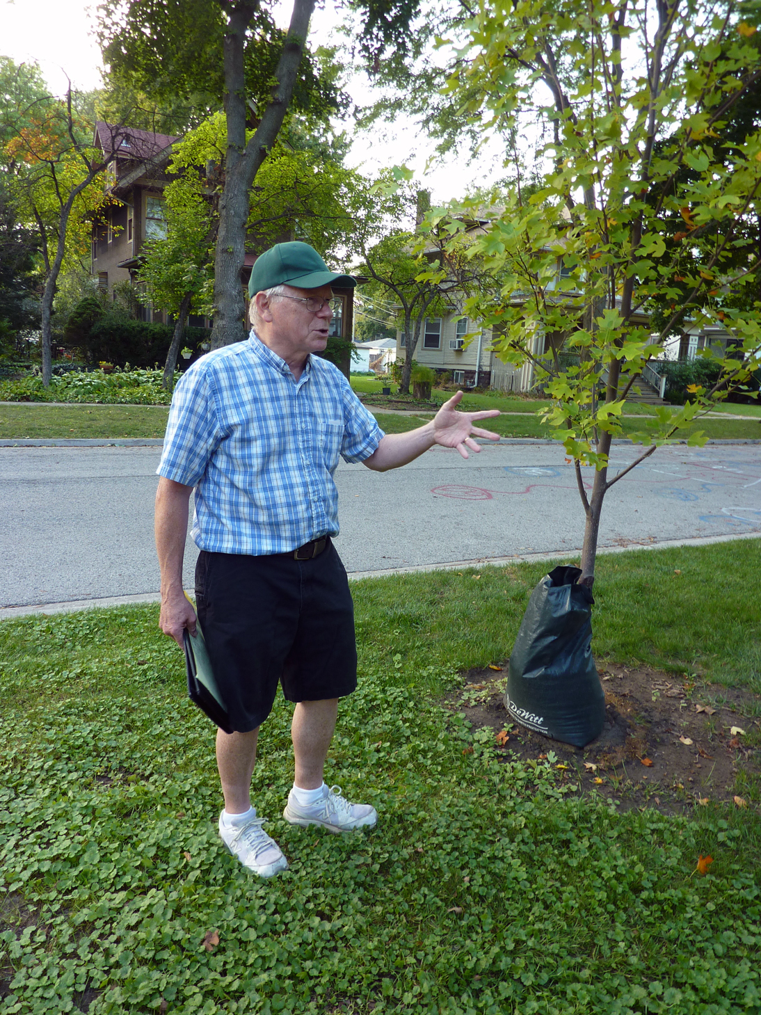 Gordon Waldron of the Learning Gardens shares his respect and affection for trees at local block parties.