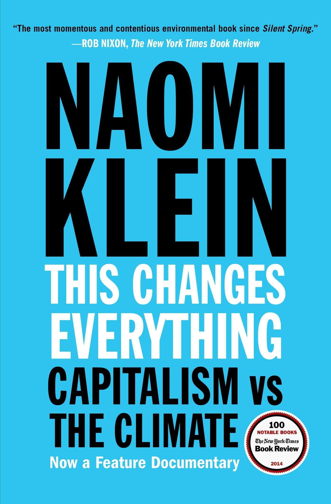 Book cover for This Changes Everything.