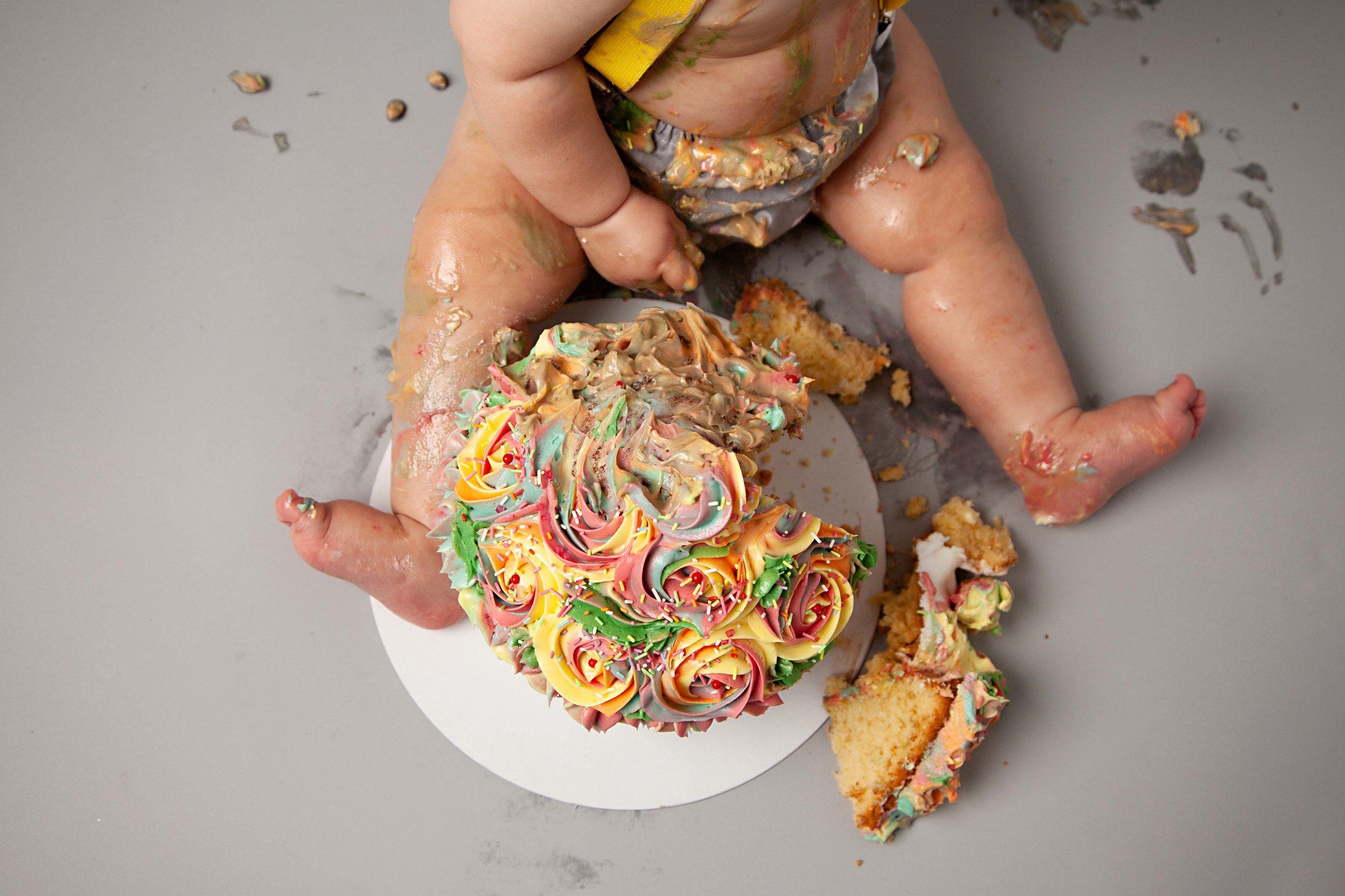 Cake Smash Photography, Shrewsbury, Shropshire
