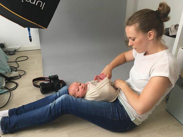 Behind the Scenes Newborn Photography Shrewsbury Shropshire