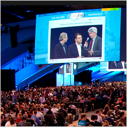 "Watching Dreamforce keynote address on the ""Internet of Customers""  - San Francisco, CA, Sep 2015"