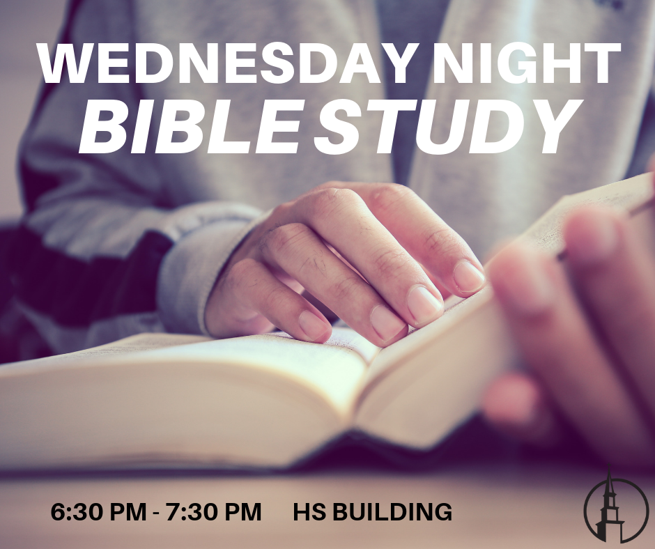 WEDNESDAY NIGHTS - Every Wednesday night from 6:30 - 7:30pm in the HS Building.