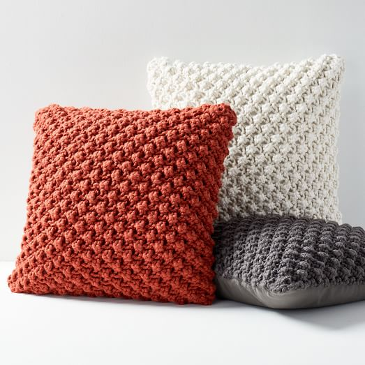 Bobble Knit Pillow Covers -